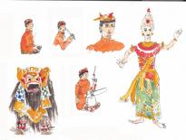 Barong-dancers-Balinese-orchestra